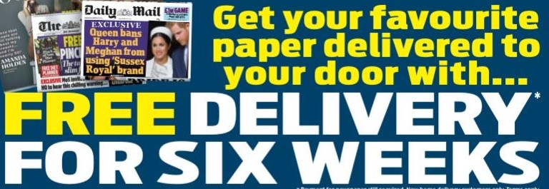 Deliver My Newspaper – Six Weeks Free Home Delivery