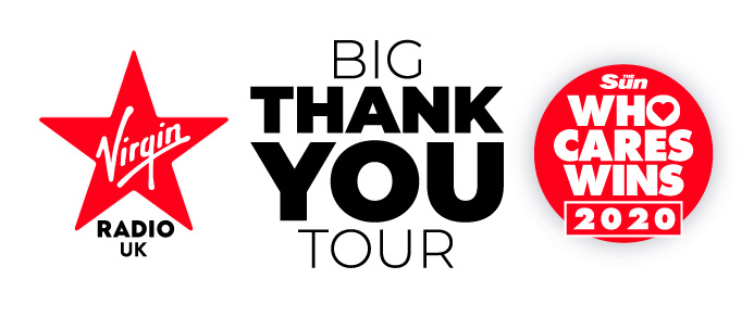 Registration Opens For Virgin Radio And The Sun's Big Thank You Tour As The Sun's Who Cares Wins Appeal Hits £1m!