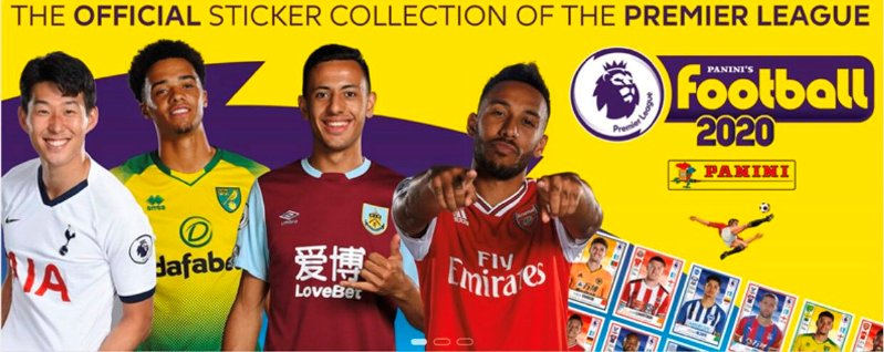 Panini's Football 2020 – The Official Premier League Sticker Collection OUT NOW!