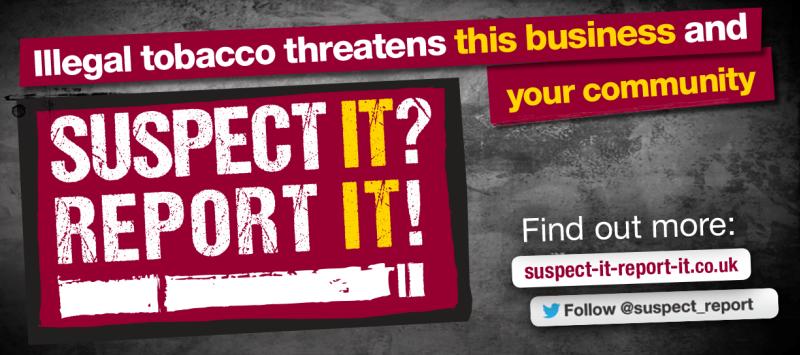Suspect It, Report It banner