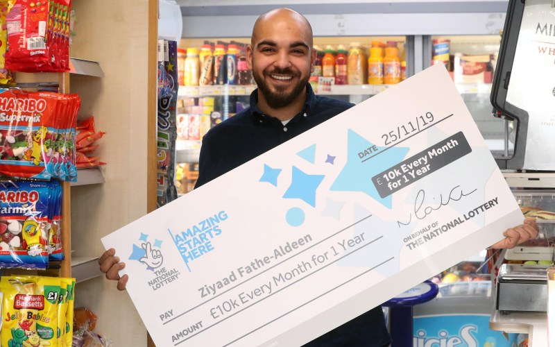Shop Assistant Wins £10,000 a Month for a Year in National Lottery Draw